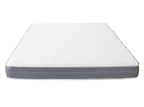 UsineStreet Matelas Memory First 140x190cm Mémoire de Forme MEMORYTEX 42kg/m3 + 7 Zones de Confort - Ferme - Accueil Moelleux – H 17 cm - OBED