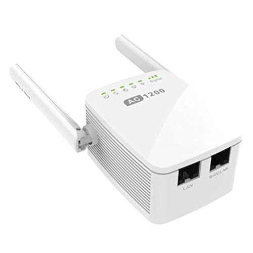 MC.PIG Ac1200 Mesh Wi-Fi Range Extender-N300 Universal Range Extender, Broadband/Wi-Fi Extender, Wi-Fi Booster/Hotspot con 1 Puerto Ethernet y 2 Antenas externas, Plug and Play