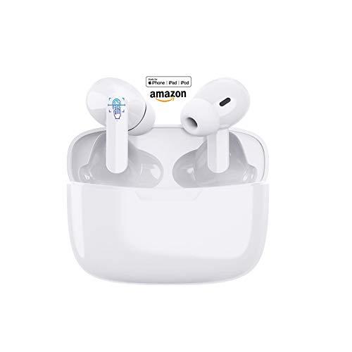 Drahtlose Kopfhörer,wasserdichte drahtlose IPX7-Bluetooth-Ohrhörer, eingebautes Mikrofon und Ladebox, Touch-Steuerung,3D-HD-Stereo-Rauschunterdrückung für A-pple/A-Irpods Pro/Android/i-Phone/Samsung