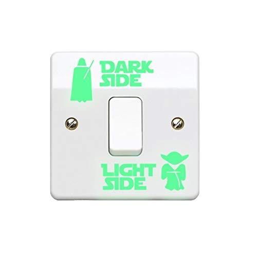 StickerDeen Aufkleber für Lichtschalter, Vinyl, für Kinderzimmer, Männerhöhle, Zuhause, Jungen, Mädchen, Kinder, Erwachsene), hergestellt in Großbritannien (leuchtet im Dunkeln) (1 Stück)