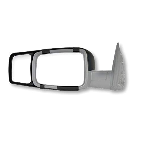 Fit System 80710 Snap-on Black Towing Mirror for Dodge RAM 1500/2500/3500 - Pair