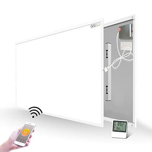 Infrarotheizung 580W mit WiFi Eingebautem Thermostat Temperatursensor Wandheizung Heizplatte Heizpaneel Infrarot Wandmontage Energiesparend Überhitzungsschutz Carbon Crystal mit CE GS RoHS
