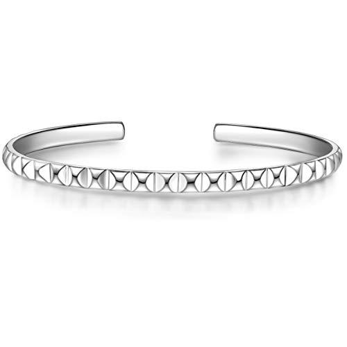 Glanzstücke München Damen-Armband Sterling Silber 925 - Bangle für Frauen Armreif Modern