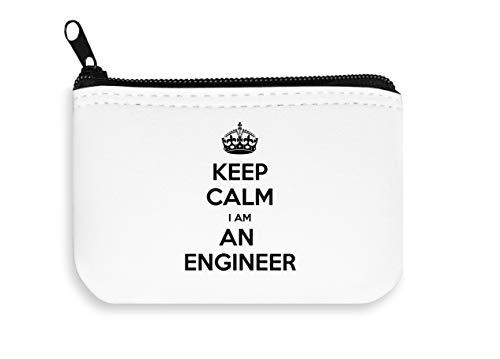 Keep Calm I am an Engineer Zipper Wallet Coin Pocket Purse Brieftasche
