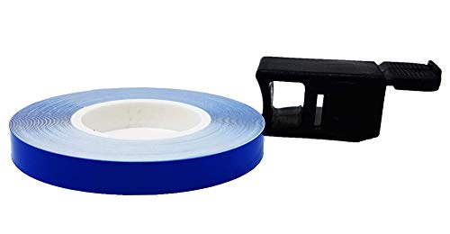 4R Quattroerre.it 10363 - Tiras adhesivas con aplicador para llantas de coche, color azul
