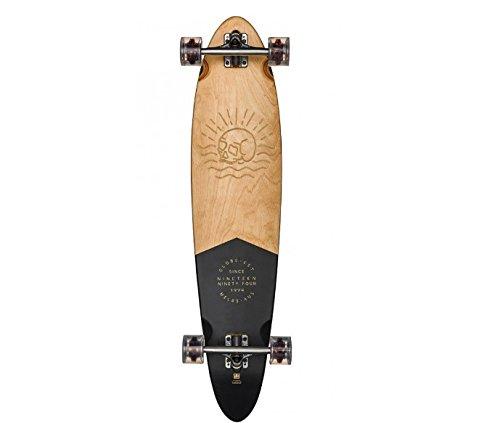 GLOBE HG Globe Pinner Classic Longboard Complete Skateboard, Black/Mahogany, Size 40