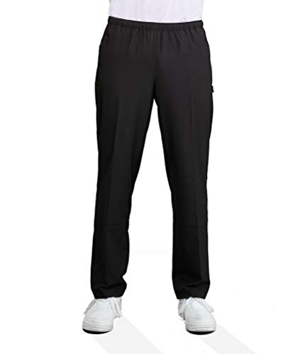 Michaelax-Fashion-Trade Authentic klein - Herren Sport und Freizeit Hose aus Stretch Gewebe in Schwarz (53081), Farbe:Schwarz (090), Größe:50