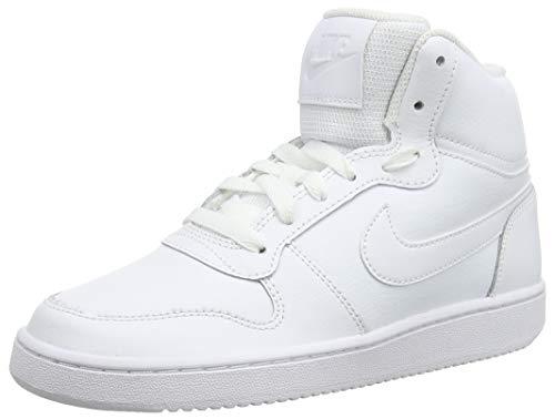 Nike Ebernon Mid, Zapatillas Altas Mujer, Blanco (White/White 100), 42 EU