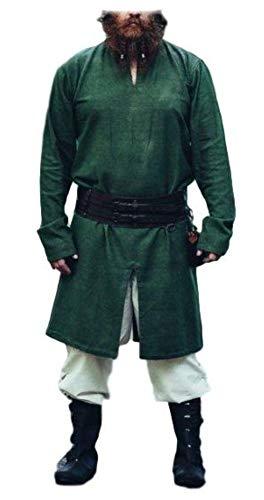 Wikingertunika Mittelalter Kleidung LARP Lennart Grün XXXL