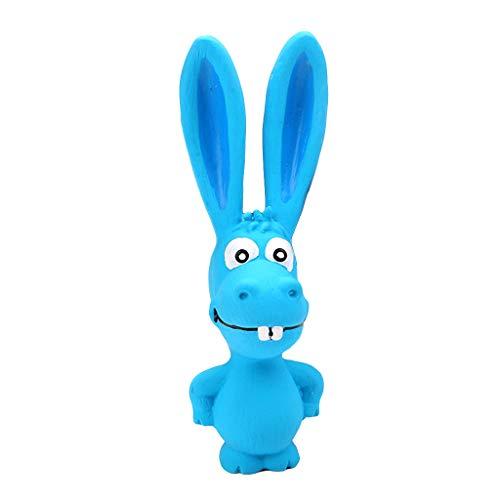 ECMQS 1 stück Spielzeug Für Hunde, Schreien Gummi Kaninchen Spielzeug Für Hunde Latex Squeak Squeaker Chew Ausbildung Produkte (Blau)