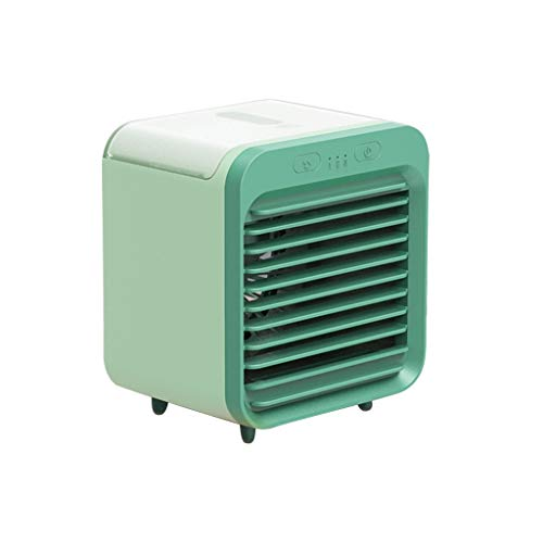 Shulky Mobile Klimageräte,Mini Luftkühler Klimaanlage, Persönliche Air Cooler Verdunstungsgerät für Zimmer Büro Schlafzimmer, 3 Kühlstufen,Grün