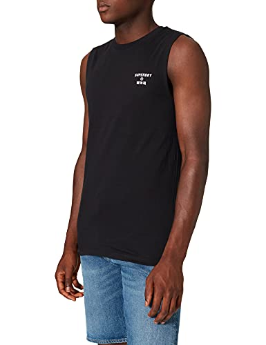 Superdry Training Core Sport Tank T-Shirt, Black, Small Homme