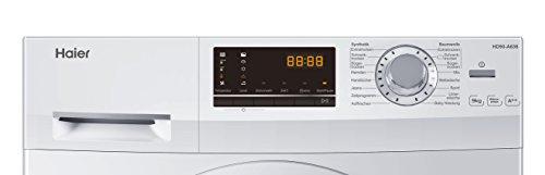 Haier HD90-A636 Wärmepumpentrockner/A++ / Edelstahltrommel/Trommelinnenbeleuchtung/Weiß - 5
