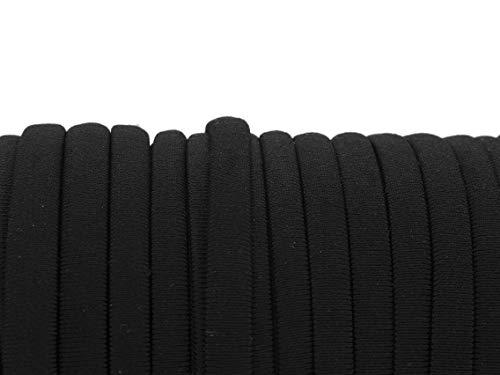 Vintageparts Habotei Seidenband in schwarz 5x3mm 2m Schmuck selber Machen Band Schmuckband