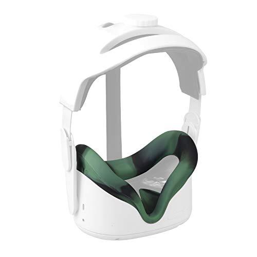 Elygo Cover Facciale in Silicone VR per Auricolare Oculus Quest 2 VR Sostituzione Impermeabile Resistente al Sudore Cuscinetti per Il Viso Accessori Oculus Quest 2 (Camuffare)