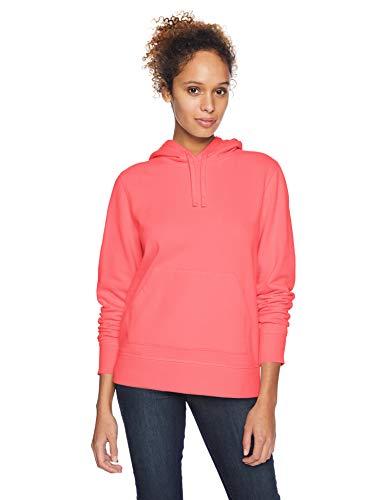 Amazon Essentials Sudadera con capucha y cremallera French Terry Fleece fashion-hoodies, Coral brillante, US L (EU L - XL)