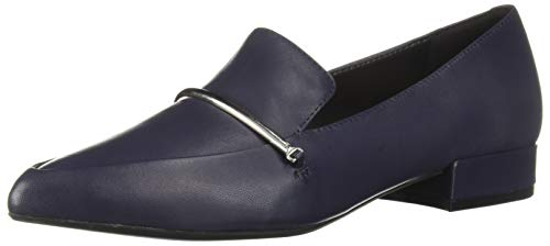 Kenneth Cole New York Women's Camelia Bar Pointy Toe Loafer Flat, Navy 9 M US