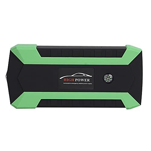 Akozon Arrancador de coche Cargador de batería Coche digital inteligente Cargador de batería del arrancador de 12V Banco de energía de emergencia portátil 20000 mAh(EU Plug)
