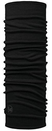 Set - Buff® Midweight Merino Multifunktionstuch + UP® Ultrapower Schlauchtuch | Unisex | Sturmhaube | Schal | Kopftuch | Halstuch | Schlauchschal, Buff Design:SOLID Black - 113023.999.10.00