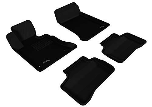 3D MAXpider Allwetter-Fußmatten für Mercedes Benz GLK-Klasse (X204) 2009-2012 Passgenaue Auto-Fußmatten Kagu Serie (1. & 2. Reihe, Schwarz)