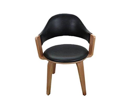 Tabouret en bois Chaise pivotante en bois massif Chaise pivotante simple et écologique chaise d'ordinateur à la maison avec fauteuil souple (Couleur : #2)
