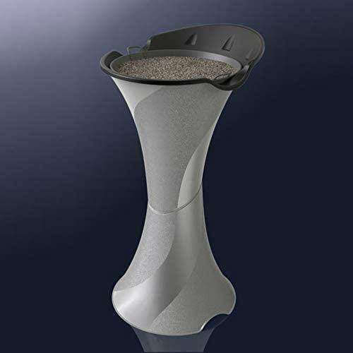 Bama Posacenere A Colonna da Terra Smoking Silver Argento con Setaccio E Sabbia, Unica