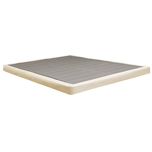 "Lifetime sleep products 4"" Low Profile Box Spring great for Memory Foam Mattress, Queen"
