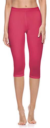 Merry Style Damen 3/4 Leggings aus Baumwolle MS10-199 (Rosa, L)