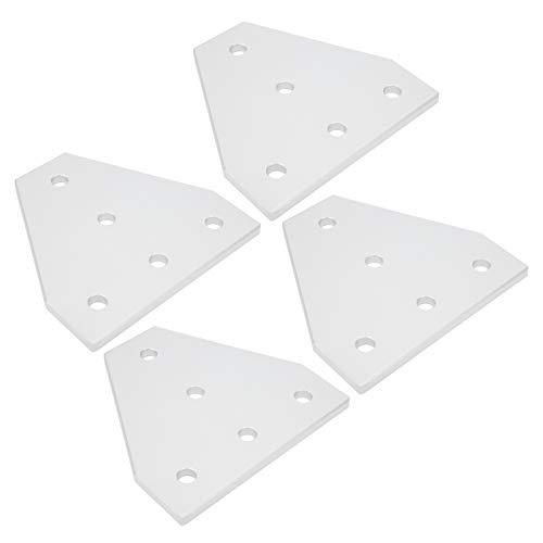 SALUTUYA Placa de unión en Forma de T, Piezas de Perfil de Aluminio Silver Strong 203040, Soporte de unión de 5 Orificios, para Impresora 3D para la Industria de la(4040T Type)