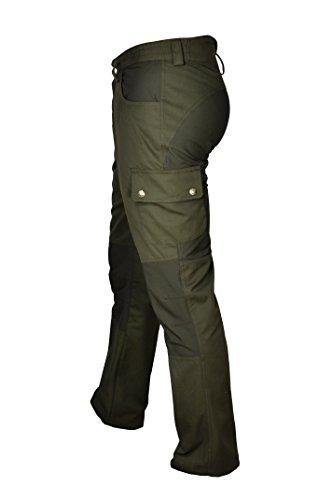 Hubertus Outdoor Canvas Hose mit Stretch Einsatz Jagd Angeln Wandern Wasserabweisend (48)