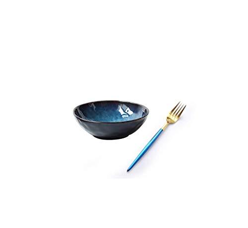 YAeele Norte de Europa Japonés frutero de cerámica ensaladera Ramen tazón tazón de Sopa Gran tazón tazón tazón de Porcelana Creativa Bol de Fideos instantáneos hogar vajilla
