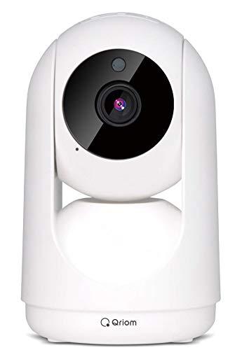 [山善] ネットワークカメラ Watch&Talk 1080p フルHD WiFi 赤外線ナイトビュー 動作検知アラート機能 防犯カメラ ペットカメラ 見守りカメラ ベビーモニター スマホ連動 QIP-C01 [メーカー保証1年]
