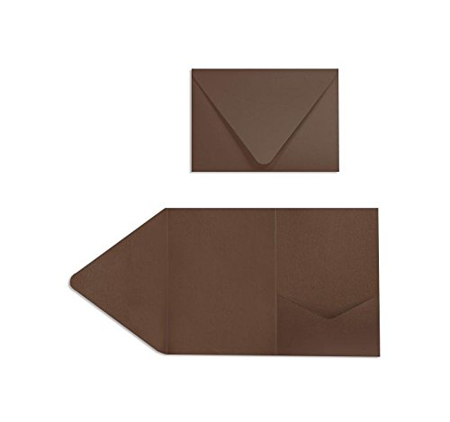A7 Pocket Invitations (5 x 7) - Chocolate Brown (50 Qty.)