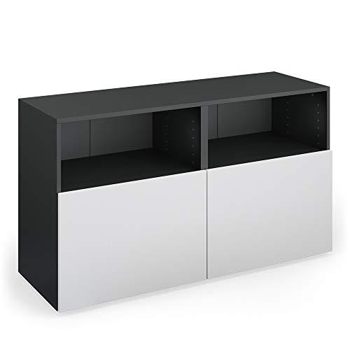 Vicco Sideboard Compo Highboard Anrichte Kommode Mehrzweckschrank (anthrazit/weiß)