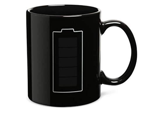 Kaffeetasse Farbe Wechsel Tasse Wärme empfindliche Becher Batterie Handgriff Keramik magische Temperatur ändern Kaffeebecher Geschenke