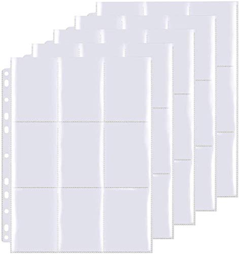 OMZGXGOD Pokemon Sammelalbum, 180 Pockets Sammelkarten, Taschen auf beiden Seiten jeder Seite, 10 Seiten, 180 Taschen, Hochtransparentes Sammelkartenzubehör Aus sicheren und haltbaren Materialien