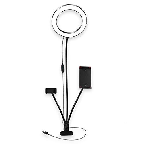 Ringleuchte Licht Set Selfie Licht mit Handy-Halter-Standplatz Selfie Ringlicht Ringleuchte für Live Stream Makeup 3-Light-Modus 10-Level-helligkeit Flexiblen Arm
