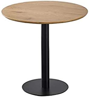 Zons Table Ronde avec Pied Central JOSUA pour Cuisine OU Salle À Manger, D80x76 cm