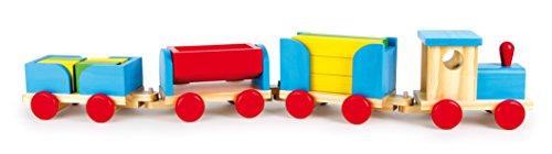 Legler Small Foot Company (Smb5V) - 1181 - Jouet À Tirer - Train en Bois - Cubes