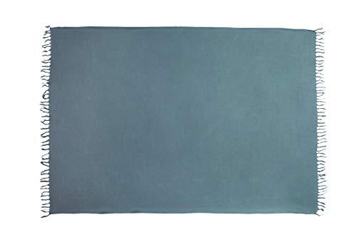 Ciffre Premium Sarong Pareo Wickelrock Strandtuch Lunghi Dhoti Schlicht Blickdicht Einfarbig Dunkel Grau