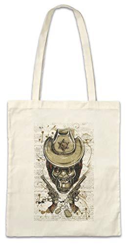 Urban Backwoods Ape Sheriff Hipster Bag Beutel Stofftasche Einkaufstasche