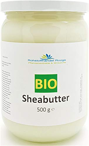 Sheabutter Bio 500 g im Glas kbA zertifiziert 100{001edd52d0b441473f7d462bdfbfa82981afb5cab129b8cd0d81c3b3affcbab1} rein Top Qualität