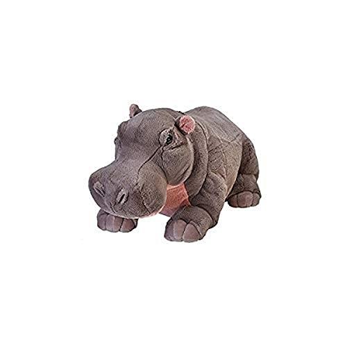 Wild Republic 17340 19320 Jumbo Plüsch Nilpferd Hippo, großes Kuscheltier, Plüschtier, Cuddlekins, 76 cm