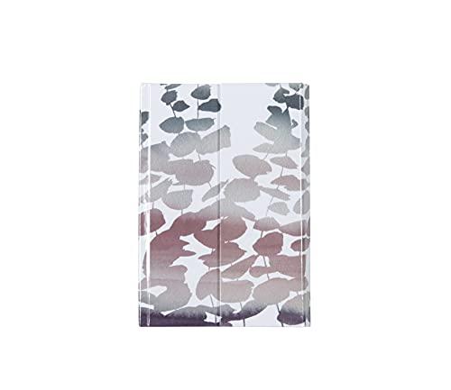 Clairefontaine 115686C – Quaderno rigido Quintessce, 160 pagine, tinta unita, 11 x 15,5 cm, 90 g, con chiusura magnetica e copertina copertina copertina in carta rivestita con motivo casuale