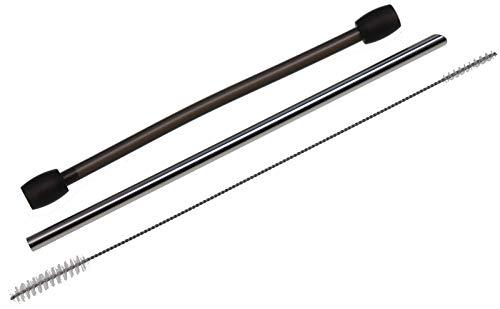 Milchschlauch 630605 + Ansaugrohr Edelstahl 4386 + Doppelreinigungsbürste 3/7mm passend für Bosch VeroBar AromaPro 100, 300 VeroSelection 300-700, Siemens EQ7 Plus, EQ8 300-900