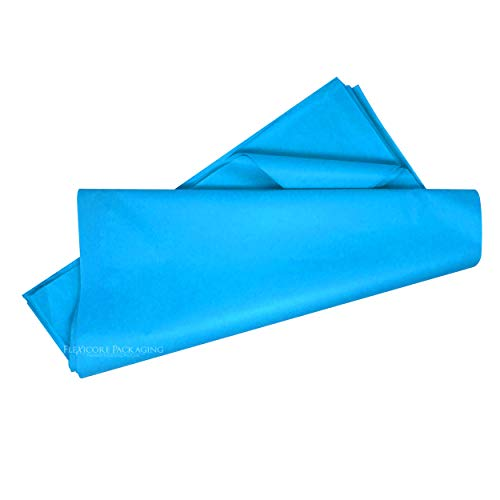 Flexicore Packaging Turquoise Blue Gift Wrap Tissue Paper Size: 20 Inch X 30 Inch   Count: 48 Sheets   Color: Turquoise