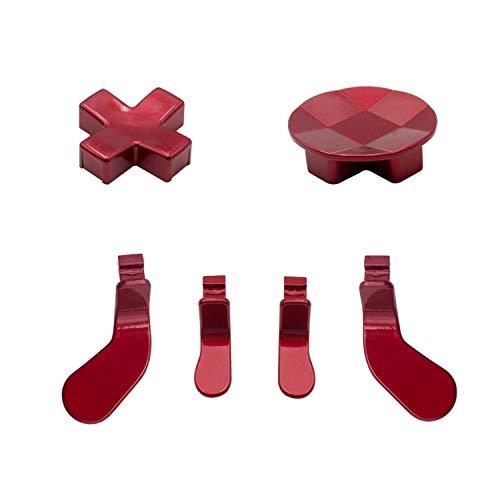 Metall-D-Pad-Knopf-Kits, Paddel-Haarauslöser- für Elite Series 2 Controller, Xbox One Elite Controller – Rot