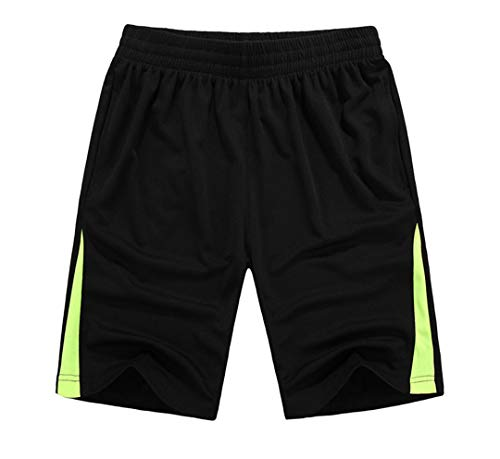 TN-KENSLY Mens-elastische Taillen-Kleidungs-Sommer-Breathable Schnelltrockner Board Shorts Black XXXL