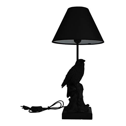 Housevitamin tafellamp/lamp met lampenkap - zwart vogel 54cm hoog