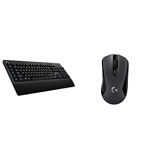 Logitech G613 Teclado Gaming Mecánico Inalámbrico, Lightspeed 1ms 2,4GHz y Bluetooth +...